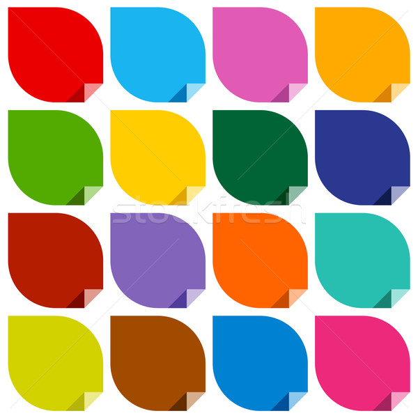 16 colored blank stickers Stock photo © Ecelop