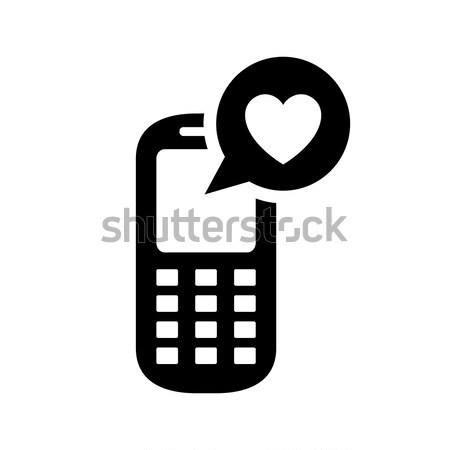 Siyah alışveriş ikon simge siyah beyaz Stok fotoğraf © Ecelop
