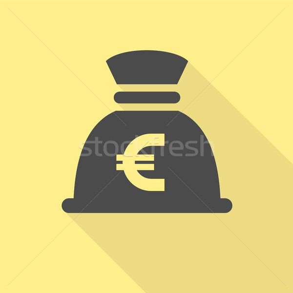 Black money bag Stock photo © Ecelop