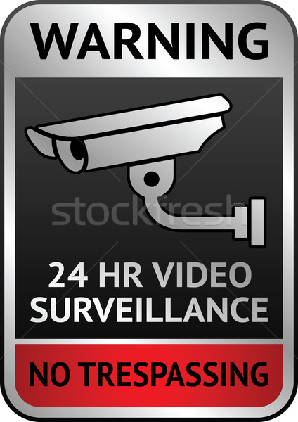 Video surveillance label Stock photo © Ecelop