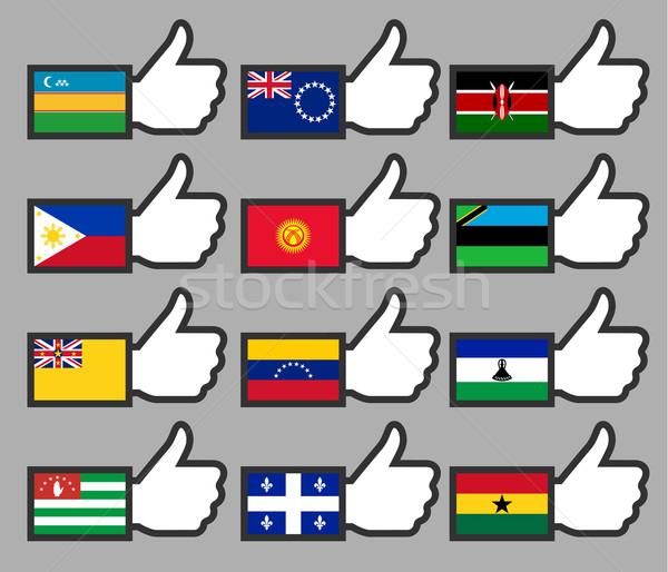 флагами знак путешествия стране политику Сток-фото © Ecelop