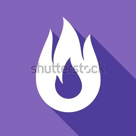 Tűz máglya láng bagel forma szín Stock fotó © Ecelop