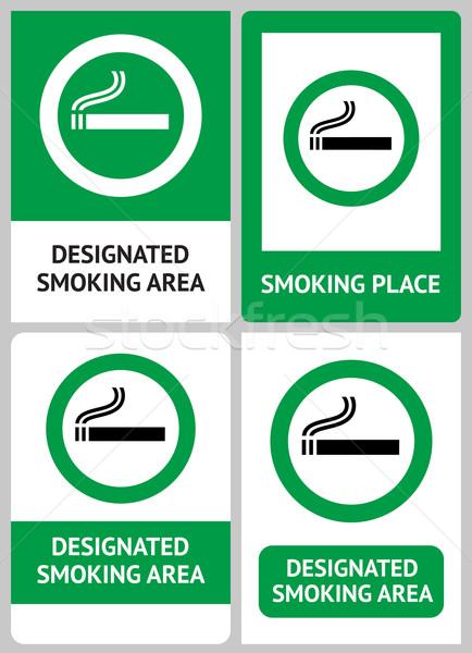 Label set Smoking place Stock photo © Ecelop