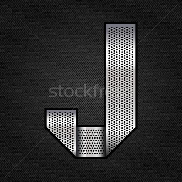 Letter metal chrome ribbon - J Stock photo © Ecelop