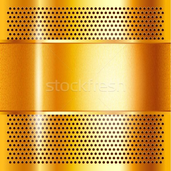 Metal sheet gold Stock photo © Ecelop