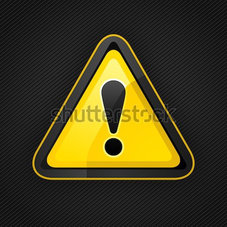 Hazard warning attention sign on a metal surface Stock photo © Ecelop