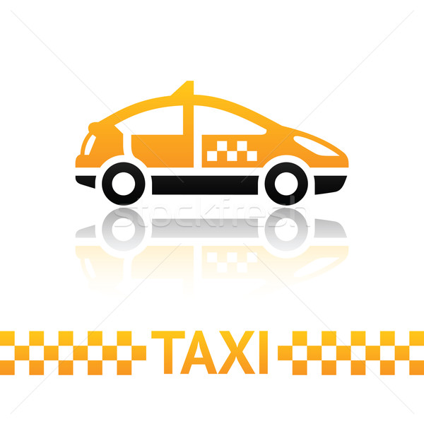 Taxi cab symbol Stock photo © Ecelop
