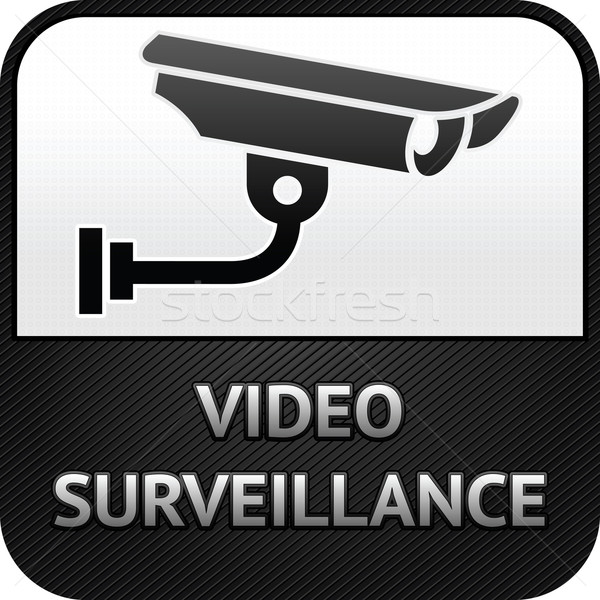 CCTV symbol, video surveillance, sign security camera Stock photo © Ecelop