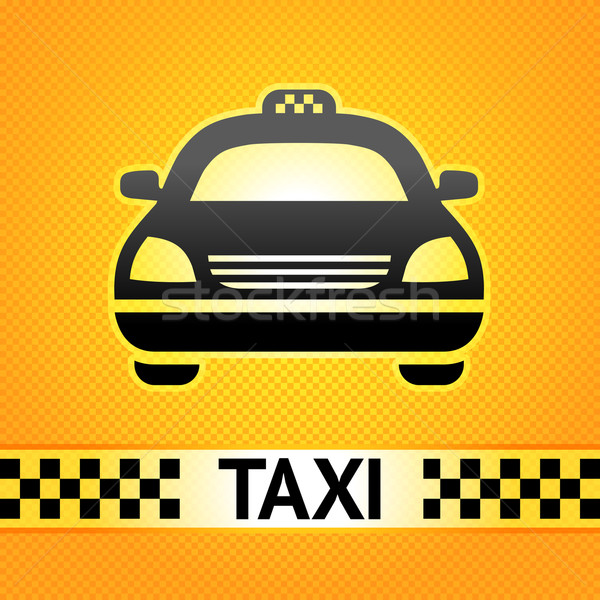 Taxi cab symbol on background pixel pattern Stock photo © Ecelop