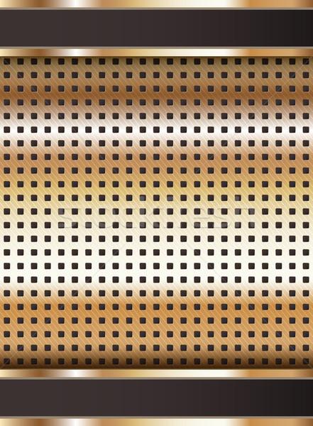 Plantilla cobre metálico textura vector resumen Foto stock © Ecelop