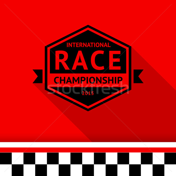 Racing stamp-06 Stock photo © Ecelop