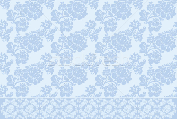 Stock photo: ornament background old vector blue
