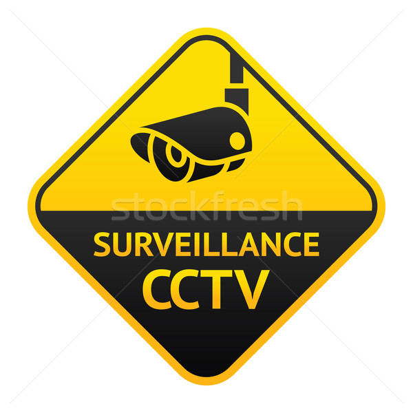 CCTV sign, video surveillance symbol Stock photo © Ecelop