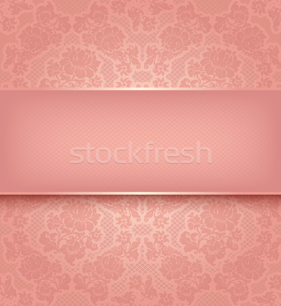 Lace template, ornamental pink flowers background Stock photo © Ecelop