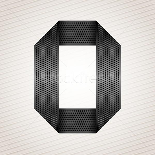 Сток-фото: числа · металл · лента · нулевой · полосатый · аннотация
