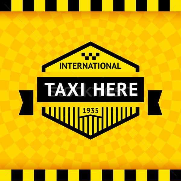 Taxi szimbólum kockás üzlet út város Stock fotó © Ecelop