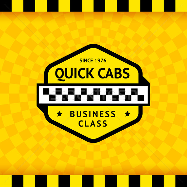 Taxi symbol with checkered background - 11 Stock photo © Ecelop