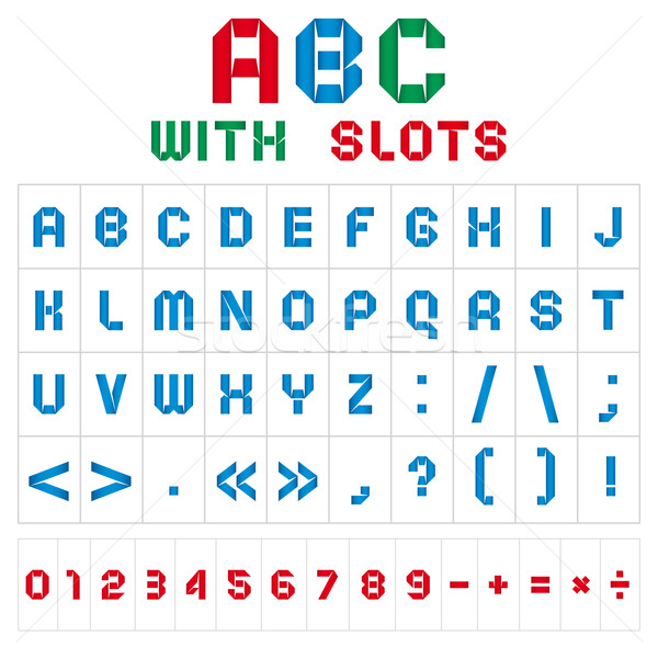 ABC font with slots, color on white background Stock photo © Ecelop