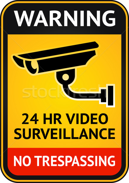 Video surveillance sign Stock photo © Ecelop
