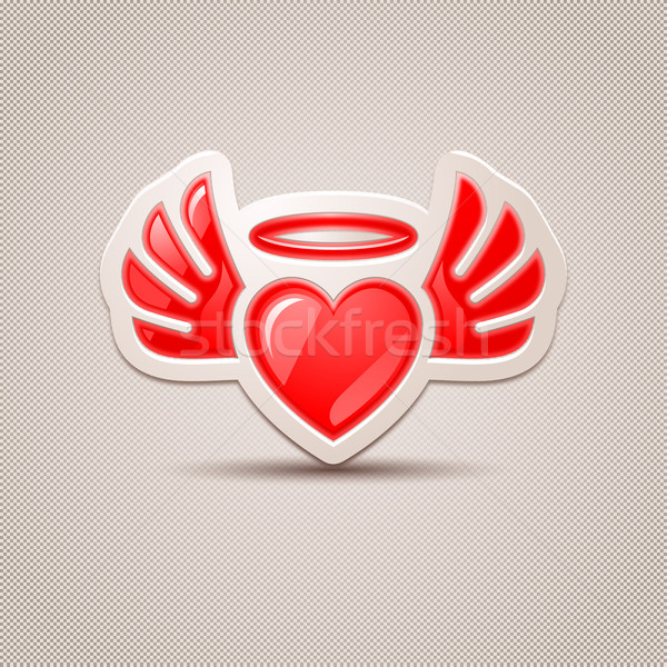 Heart with wings, the icon for your design Stock photo © Ecelop