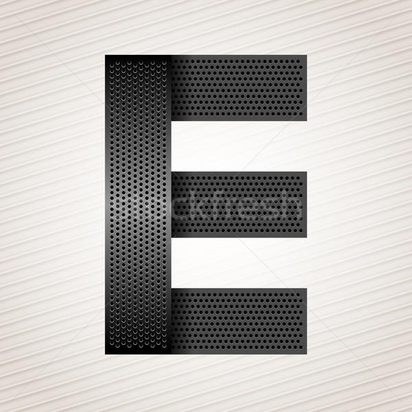 Letter metal ribbon - E Stock photo © Ecelop