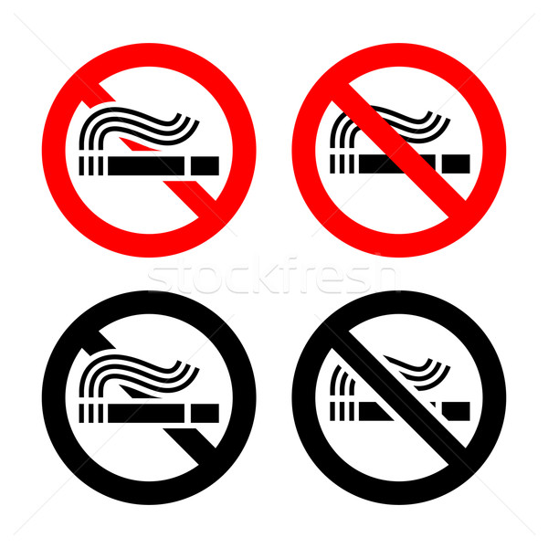 No smoking symbols set Stock photo © Ecelop