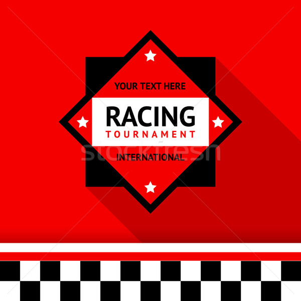 Racing badge 02 Stock photo © Ecelop