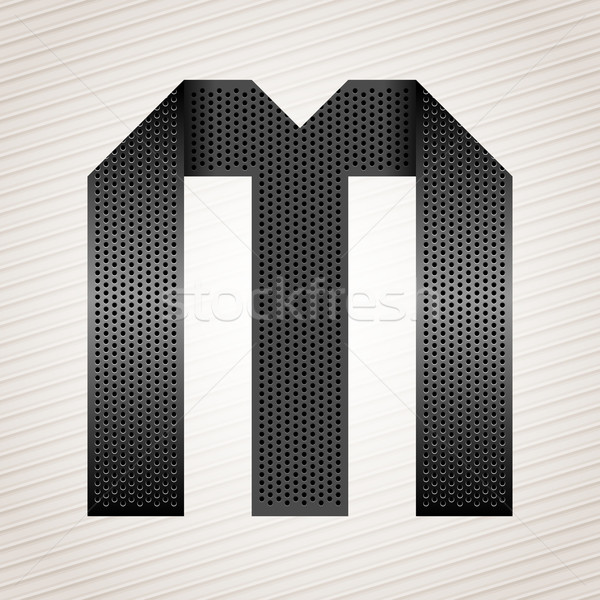 Letter metal ribbon - M Stock photo © Ecelop