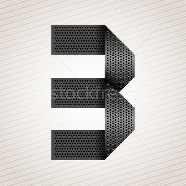 Nombre métal ruban trois rayé résumé Photo stock © Ecelop
