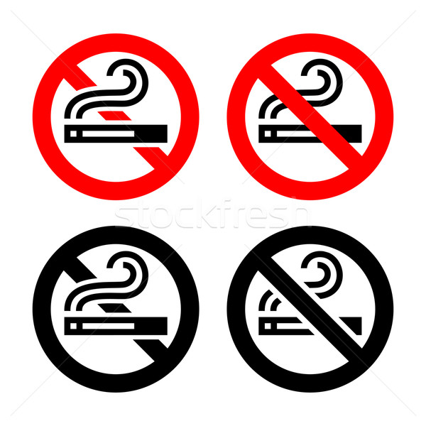 Symbols set - No smoking Stock photo © Ecelop