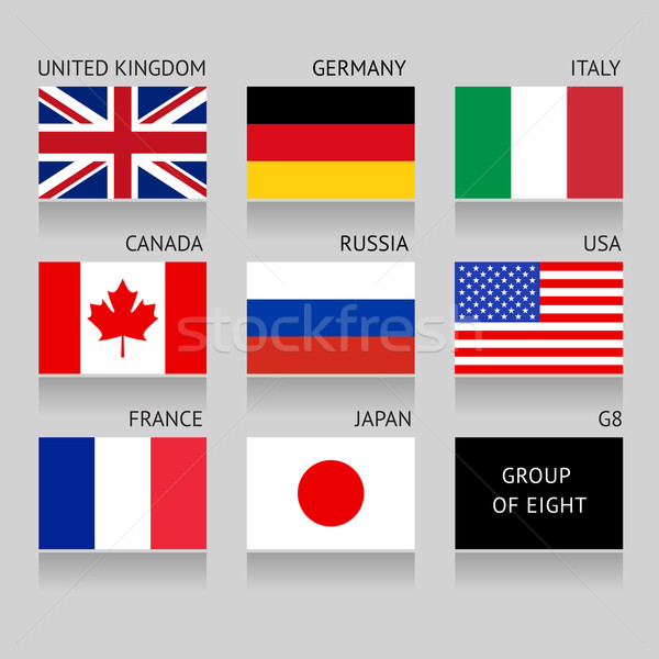 Set of G8 flags Stock photo © Ecelop