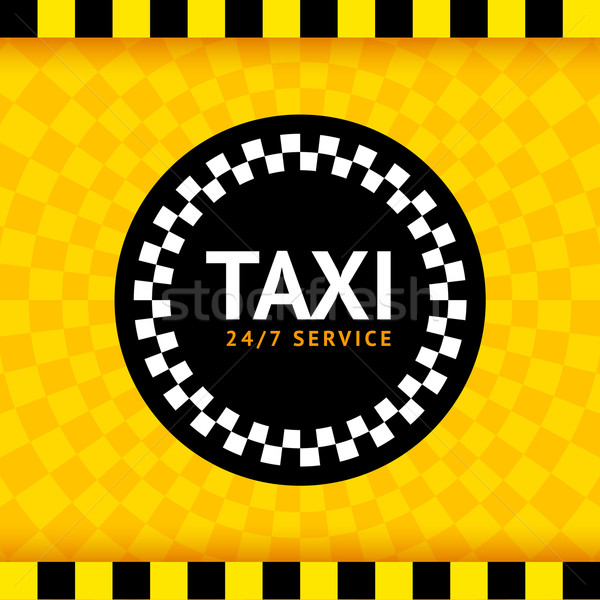 Taxi round symbol Stock photo © Ecelop