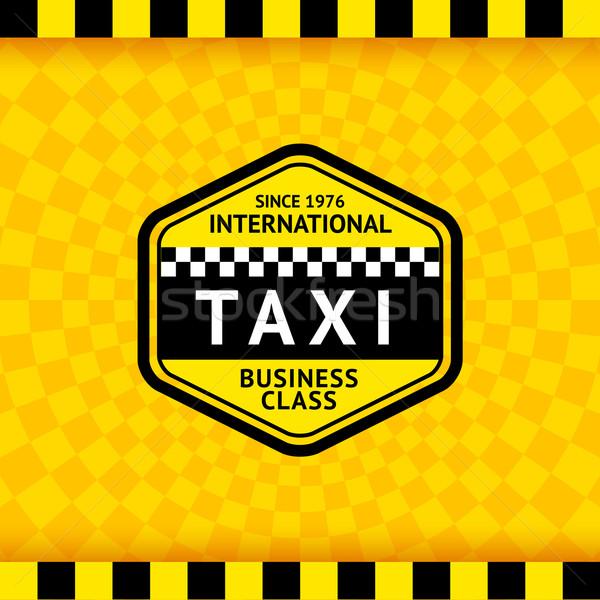 Taxi symbool 18 business weg Stockfoto © Ecelop