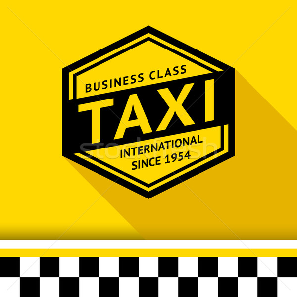 Taxi badge schaduw business weg stad Stockfoto © Ecelop