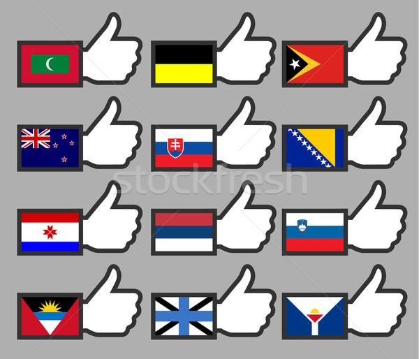 Banderas signo bandera país política Foto stock © Ecelop