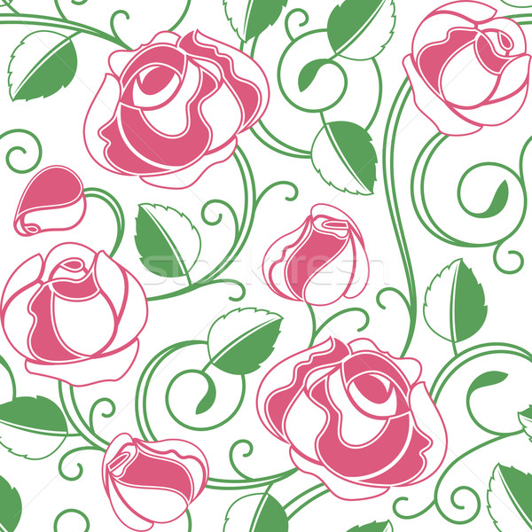 Background seamless roses pattern Stock photo © Ecelop
