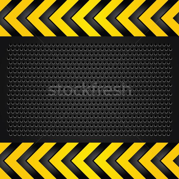 Metalen sjabloon vel weg muur achtergrond Stockfoto © Ecelop