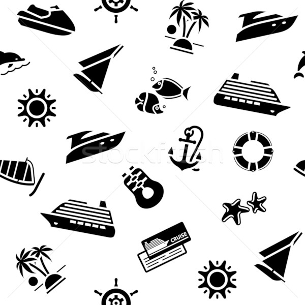 wrapping paper - transport icons, 10eps Stock photo © Ecelop