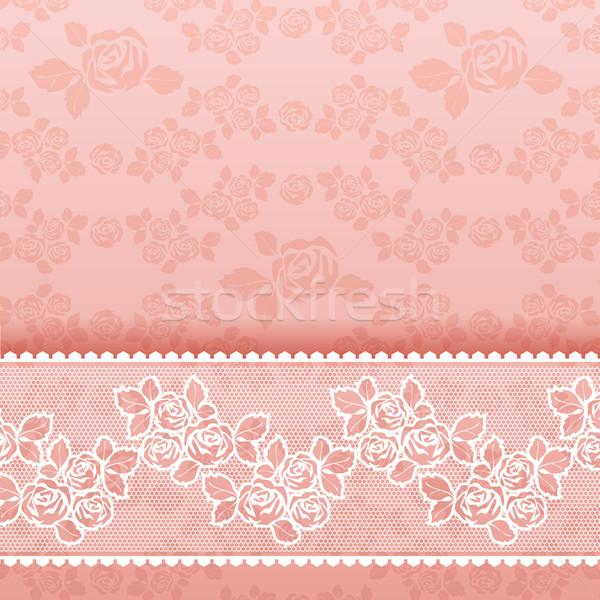 バラ 広場 レース ピンク 花 壁紙 ストックフォト © Ecelop