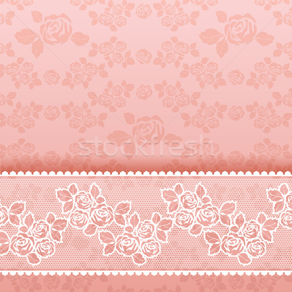 Rozen vierkante kant roze bloem behang Stockfoto © Ecelop