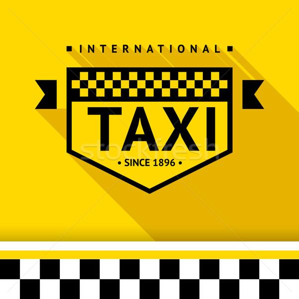 Taxi badge 17 schaduw business weg Stockfoto © Ecelop