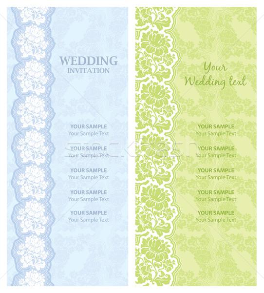 ストックフォト: 結婚式招待状 · テンプレート · ベクトル · デザイン · テクスチャ · 背景