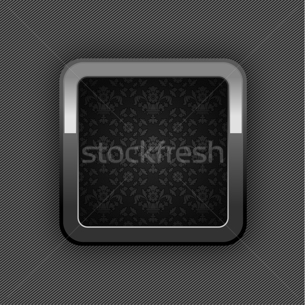 Chrome web button, button floral ornaments. 10eps Stock photo © Ecelop