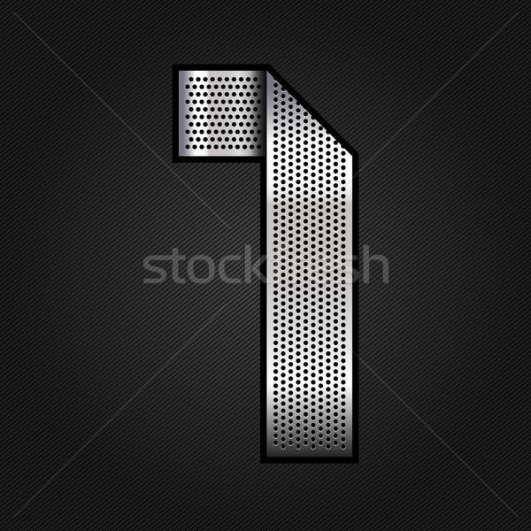 Nombre métal chrome ruban une métallique Photo stock © Ecelop