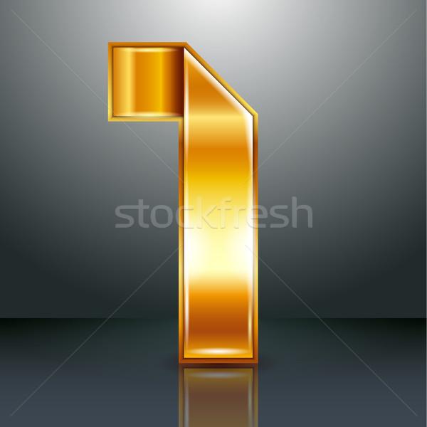 Nombre métal or ruban une arabe Photo stock © Ecelop