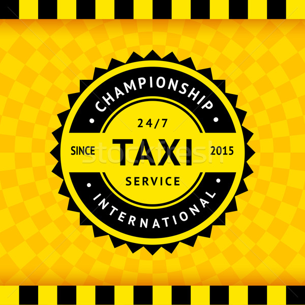 Taxi symbol with checkered background - 15 Stock photo © Ecelop