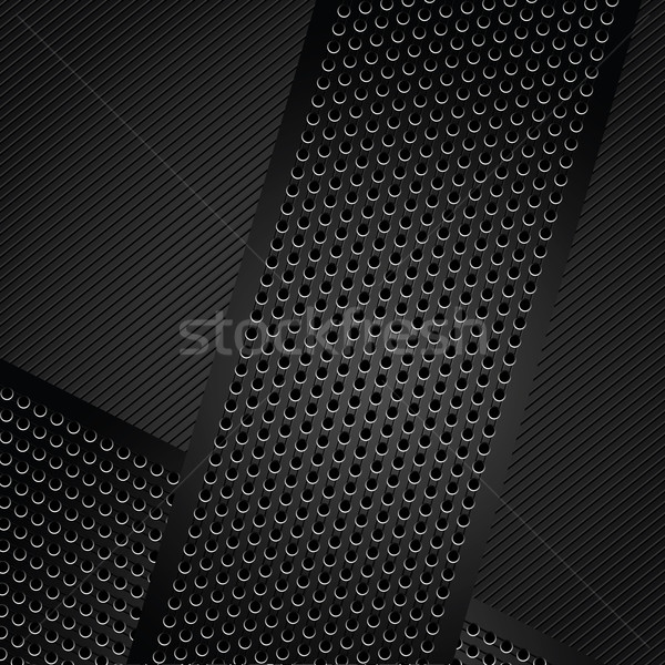 Métallique technologie modèle ruban fer Photo stock © Ecelop