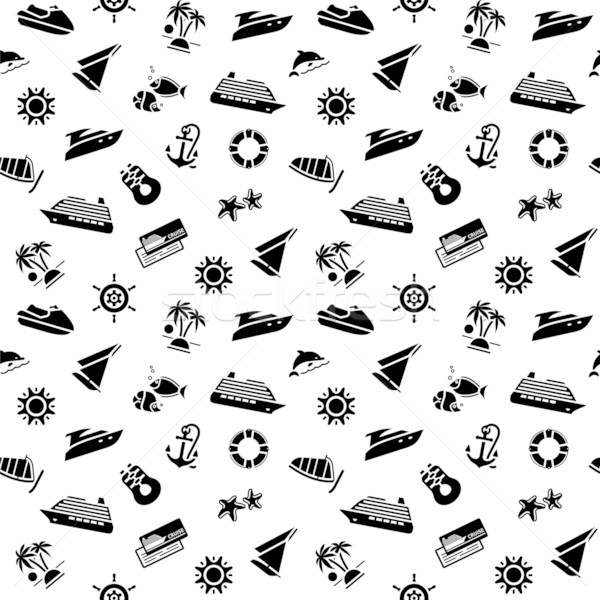 wrapping paper - transport icons, wallpaper, 10eps Stock photo © Ecelop