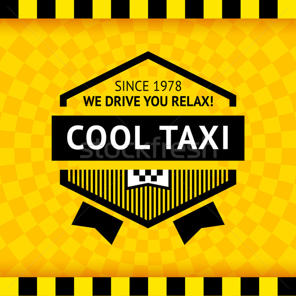 Taxi symbol with checkered background - 16 Stock photo © Ecelop