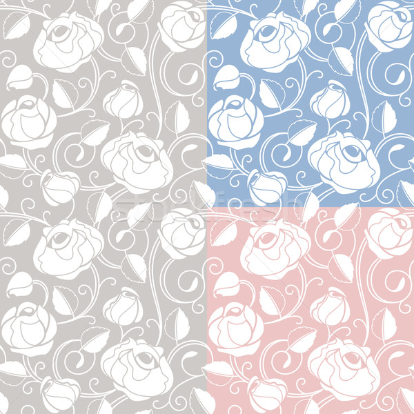 Seamless roses pattern, backdrop, template Stock photo © Ecelop